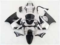 Black/Silver Kawasaki 2000-2002 ZX6R and 2005-2009 ZZR600 Motorcycle Fairings | NK60002-4