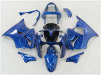 Kawasaki 2000-2002 ZX6R and 2005-2009 ZZR600 Lighting Blue Fairings | NK60002-41