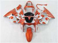 Kawasaki 2000-2002 ZX6R and 2005-2009 ZZR600 Metallic Orange Tribal Fairings | NK60002-8