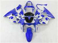 Kawasaki 2000-2002 ZX6R and 2005-2009 ZZR600 Metallic Blue Tribal Fairings | NK60002-9