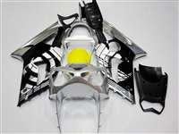 2003-2004 Kawasaki ZX6R Silver/Black Design Fairings | NK60304-1