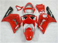 2003-2004 Kawasaki ZX6R Black Flame/Red Fairings | NK60304-12