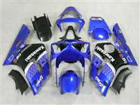 2003-2004 Kawasaki ZX6R Plasma Blue Race Fairings | NK60304-15