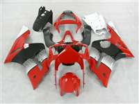 2003-2004 Kawasaki ZX6R Red/Black OEM Style Fairings | NK60304-4