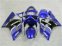 2003-2004 Kawasaki ZX6R Plasma Blue Race Fairings | NK60304-8