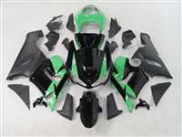 2005-2006 Kawasaki ZX6R Black/Mint Green Fairings | NK60506-10