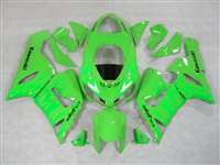 2005-2006 Kawaskia ZX6R Green on Green Flame Fairings | NK60506-18