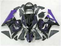 2005-2006 Kawasaki ZX6R Purple Flame Fairings | NK60506-22