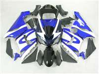 2005-2006 Kawasaki ZX6R White/Blue Fairings | NK60506-23