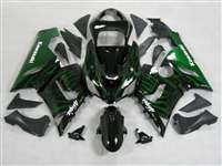 2005-2006 Kawasaki ZX6R Green Fire Fairings | NK60506-26