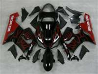 2005-2006 Kawasaki ZX6R Red Flame Fairings | NK60506-31