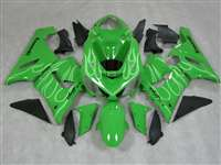 2005-2006 Kawasaki ZX6R Ghost Flame on Green Fairings | NK60506-33