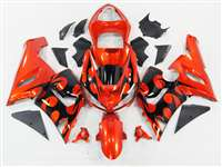 2005-2006 Kawasaki ZX6R Red Tribal Fairings | NK60506-38