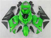 2005-2006 Kawasaki ZX6R Matte Green Fairings | NK60506-41