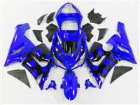 2005-2006 Kawasaki ZX6R Black Tribal on Blue Fairings | NK60506-44