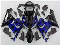 2005-2006 Kawasaki ZX6R Blue Tribal Fairings | NK60506-48