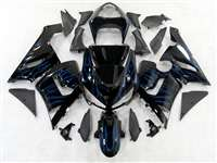 2005-2006 Kawasaki ZX6R Blue Ice Fire Fairings | NK60506-5