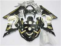 2005-2006 Kawasaki ZX6R Lucky Strike Black Fairings | NK60506-53