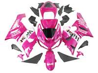 2005-2006 Kawasaki ZX6R Pink West Fairings | NK60506-6