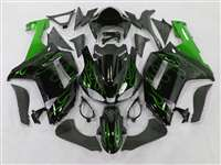 2007-2008 Kawasaki ZX6R Metallic Green Fire Fairings | NK60708-10