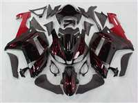 2007-2008 Kawasaki ZX6R Metallic Red Fire Fairings | NK60708-11