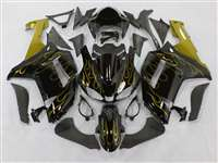 2007-2008 Kawasaki ZX6R Gold Flame Fairings | NK60708-12