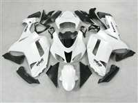 2007-2008 Kawasaki ZX6R Gloss White Fairings | NK60708-17