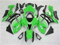 2007-2008 Kawasaki ZX6R Green/Black Race Style Fairings | NK60708-20