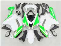 2007-2008 Kawasaki ZX6R Neon Green/White Fairings | NK60708-24