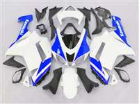 2007-2008 Kawasaki ZX6R Blue/White Fairings | NK60708-25