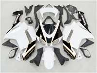 2007-2008 Kawasaki ZX6R White/Black Monster-ous Fairings | NK60708-26