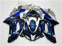 2007-2008 Kawasaki ZX6R Ice Blue Flames Fairings | NK60708-6