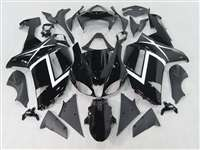 2007-2008 Kawasaki ZX6R Gloss Black Design Fairings | NK60708-7