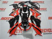 2009-2012 Kawasaki ZX6R Red/Black Fairings | NK60912-10