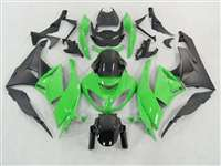 2009-2012 Kawasaki ZX6R Green/Black Monster-ous Fairings | NK60912-15