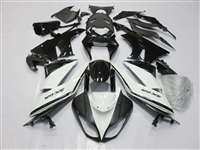2009-2012 Kawasaki ZX6R White/Black Fairings | NK60912-19