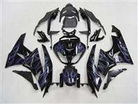 2009-2012 Kawasaki ZX6R Blue Flames Fairings | NK60912-4