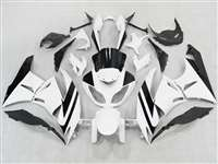 2009-2012 Kawasaki ZX6R White/Black Fairings | NK60912-5