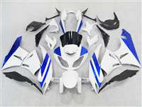 2009-2012 Kawasaki ZX6R White/Blue Fairings | NK60912-7