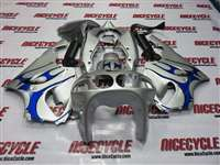 1997-2003 Kawasaki ZX-7R Silver/Blue Tribal Fairings | NK79703-14