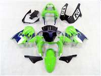 White/Green 2002-2003 Kawasaki ZX9R Motorcycle Fairings | NK90203-2
