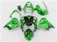 2002-2003 Kawasaki ZX9R Metallic Green Tribal Fairings | NK90203-5