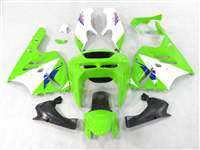 1994-1997 Kawasaki ZX9R Green/White Fairings | NK99497-9