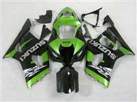 2003-2004 Suzuki GSXR 1000 Metallic Green/Black Fairings | NS10304-11