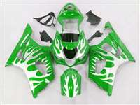 2003-2004 Suzuki GSXR 1000 Metallic Tribal on Green Fairings | NS10304-30