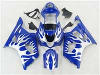 2003-2004 Suzuki GSXR 1000 Metallic Tribal on Blue Fairings | NS10304-32