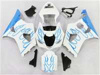 2003-2004 Suzuki GSXR 1000 Sky Blue Flame Fairings | NS10304-34