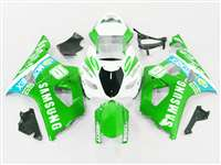 2003-2004 Suzuki GSXR 1000 Samsung Green Fairings | NS10304-5