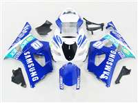 Samsung Blue 2003-2004 Suzuki GSXR 1000 Motorcycle Fairings | NS10304-6