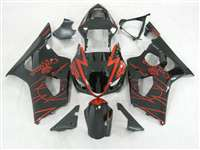 2003-2004 Suzuki GSXR 1000 Black Corona Alstare Fairings | NS10304-9